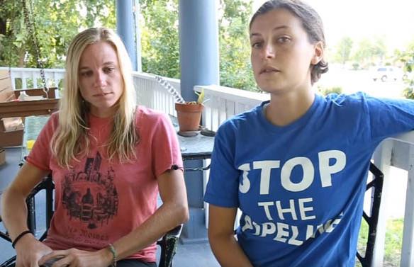 Jessica Reznicek and Ruby Montoya No DAPL Activists