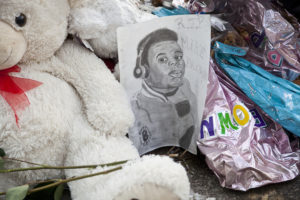 "A memorial for Michael Brown in Ferguson featured in ""Whose Streets?"" (Magnolia Pictures)"