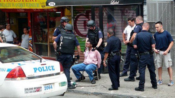 NYPD police abuse in street