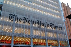 New York Times building in New York City. (Photo from Wikipedia)