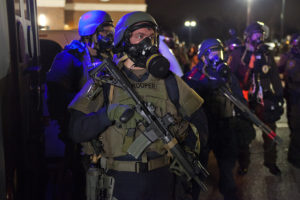 "Riot police in Ferguson in ""Whose Streets?"" (Magnolia Pictures)"