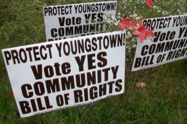 After several attempts to ban fracking in Youngstown, Ohio, the community rights movement is focusing on ending outside industry contributions to local election campaigns.   (Image: protectyoungstown.org)