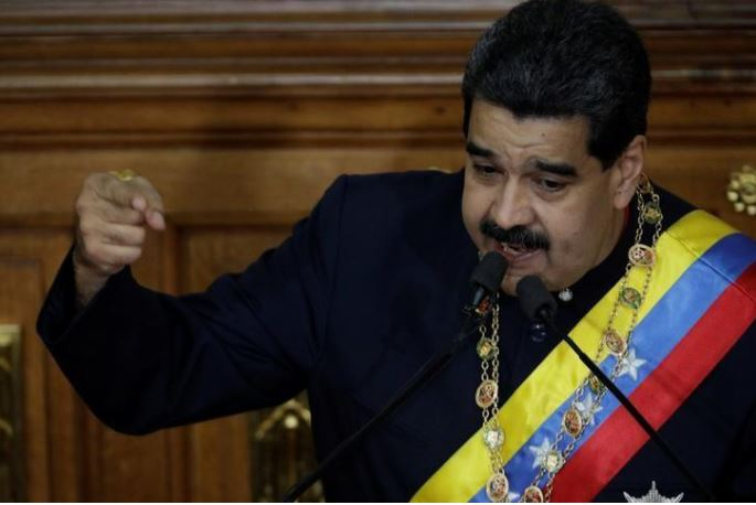 Venezuelan President Nicholas Maduro speaking to National Constituent Assembly, Aug. 10 , 2017. By