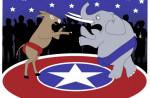 Enlarge / Democrats vs. Republicans.