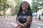 ED HILLE / STAFF PHOTOGRAPHER India Fenner, 19, is organizing a march for black women.