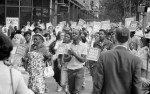 Demonstrators participating in the Poor People's March at Lafayette Park and on Connecticut Avenue, Washington, D.C., on June 18, 1968. Photo from Library of Congress.