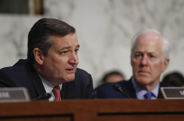 Texas Sens. Ted Cruz and John Cornyn want relief funding for Hurricane Harvey expedited, despite voting down Hurricane Sandy assistance in 2012. (PABLO MARTINEZ MONSIVAIS/AP)