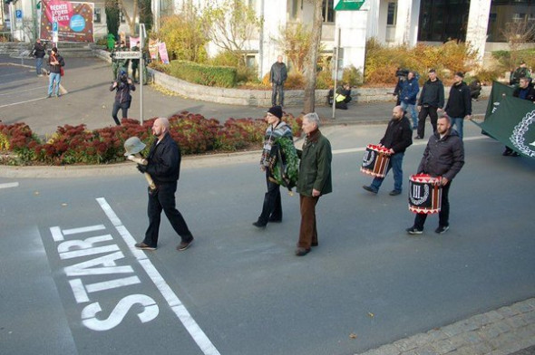 "Neo-nazis take part in the ""involuntary walk-a-thon"" in Wunsiedel, Germany in 2014. (Twitter / @exitdeutschland)"