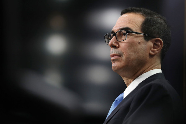U.S. Treasury Secretary Steven Mnuchin testifies before the House Appropriations Committee's Financial Services and General Government Subcommittee in the Rayburn House Office Building on Capitol Hill on June 12, 2017 in Washington, D.C. Chip Somodevilla/Getty Images