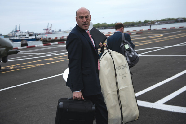 National Economic Council Director Gary Cohn arrives at a Wall Street heliport while traveling with President Donald Trump on May 4, 2017 in New York City. Brendan Smialowski/AFP/Getty Images