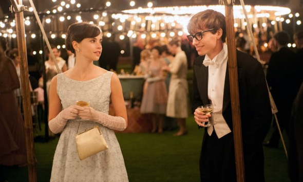 Felicity Jones and Eddie Redmayne star in The Theory of Everything. Photograph: Working Title Films/Allstar