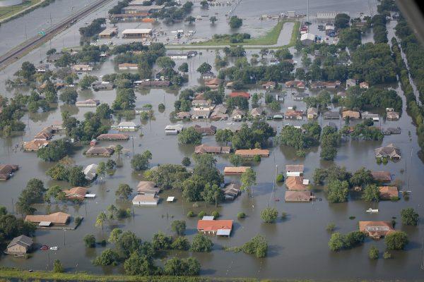 Port Arthur, Texas underwater (SC National Guard / Flickr)