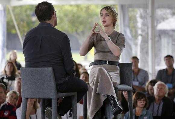Chelsea Manning interviewed by filmmaker Eugene Jarecki Associate Press September 16, 2017.