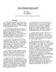 The first page of Donald Davies's proposal for a common carrier.