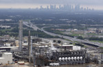 The Flint Hills Resources oil refinery near downtown Houston on, Aug. 29, 2017. (AP/David J. Phillip)