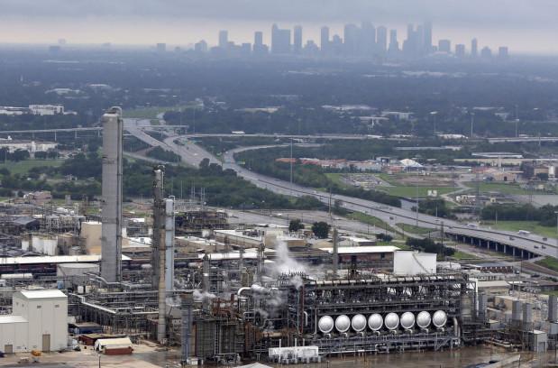 The Flint Hills Resources oil refinery near downtown Houston on, Aug. 29, 2017. (AP/David J. Phillip)