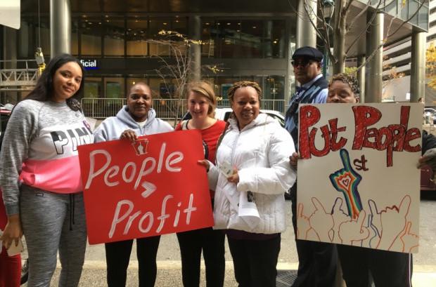 Put People First! Pennsylvania rallies on November 3, 2016 in Philadelphia, Penn. (Photo courtesy of Put People First! Pennsylvania)