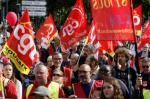 Demonstrators walk during a protest against the labor reform on September 12, 2017 in Paris, France. (Photo: Sylvain Lefevre/Getty Images)