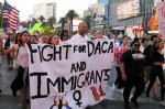 After President Donald Trump announced he would end the Obama-era Deferred Action for Childhood Arrivals program, people took the the streets nationwide to call on Congress to pass immigration legislation. (Photo: Ethan Miller/Getty Images)