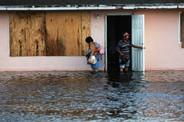 Hurricane Irma's powerful storm surge flooded businesses and homes and damaged infrastructure along the Florida coast. Credit: Spencer Platt/Getty Images