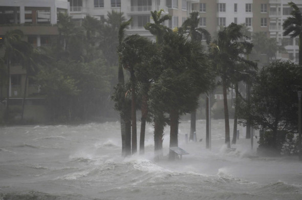 Hurricane Irma turned streets into rivers in Miami and left a wide swath of damage as it made landfall in the Florida Keys with 130 mph winds and moved up the state. Credit: Joe Raedle/Getty Images
