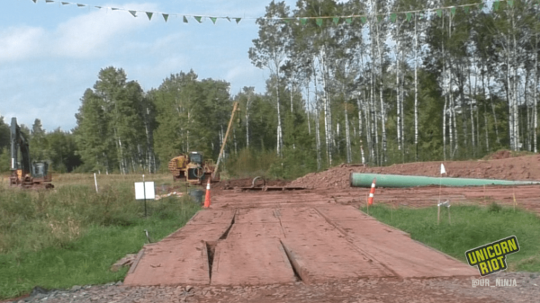 Exposed Line 3 pipe is seen in Superior, Wisconsin (September 17, 2017)