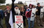 White nationalists attend a rally in Shelbyville, Tennessee {Scott Olson/Getty Images/AFP]