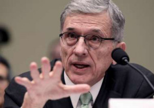 Former FCC Chairman Tom Wheeler testifies on Capitol Hill in Washington after the agency passed net neutrality rules. Lauren Victoria Burke/AP