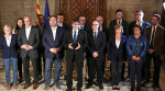 Catalan president with his cabinet