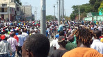 Demonstrators marching in Port au Prince from Haiti Liberty