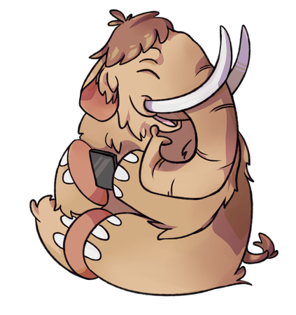 A logo of the Mastodon social network, showing an anthropomorphic mastodon using a smartphone. (Wikimedia Commons / dopatwo, CC NC ND license)