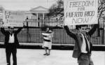 Members of Movimiento Pro-Independencia de Puerto Rico picket the White House in March of 1965. (Claridad / Biblioteca Digital UPR Río Piedras)