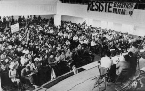 Puerto Ricans attending the Fifth Annual Youth Conference of the Pro Independence Movement in Santurce on January 21, 1967. (Claridad / El Mundo, Biblioteca Digital UPR Río Piedras)
