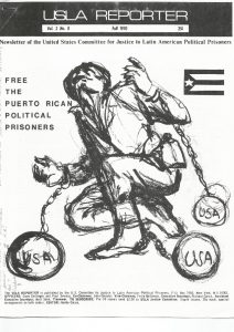 An image published in the Fall of 1970 by the U.S. Committee for Justice to Latin American Political Prisoners.