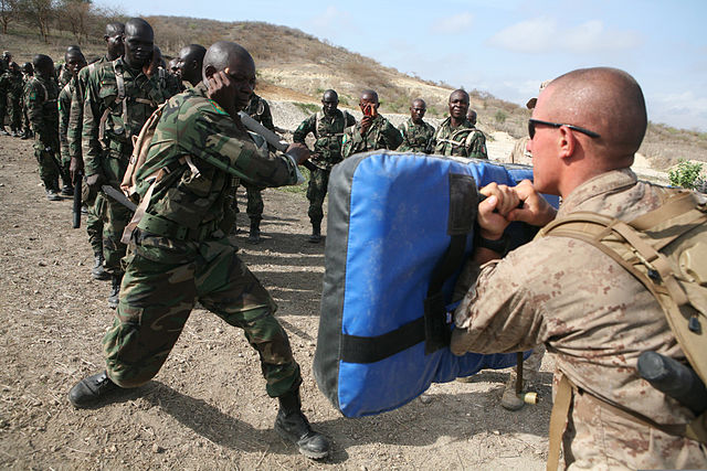 US military training in Africe. Source Wikimedia