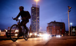 'Every new cyclist is freeing space on the roads or on public transport for others who do not cycle.' A cycling commuter in Manchester. Photograph: Christopher Thomond for the Guardian