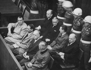 High-ranking Nazis on trial at Nuremberg