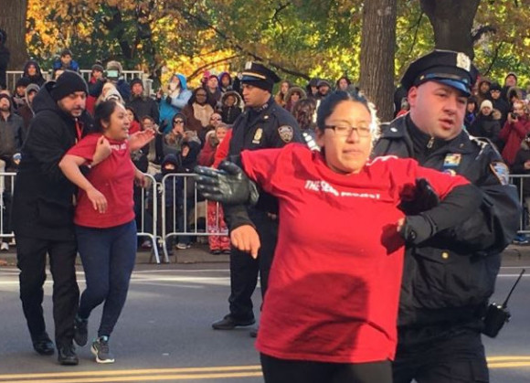 Macy's Day Parade, Undocumented youth removed by police 11-23-17