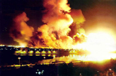 """At the start of the U.S. invasion of Iraq in 2003, President George W. Bush ordered the U.S. military to conduct a devastating aerial assault on Baghdad, known as """"shock and awe."""""""