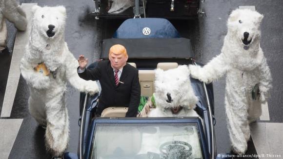 Trump protester at COP 23
