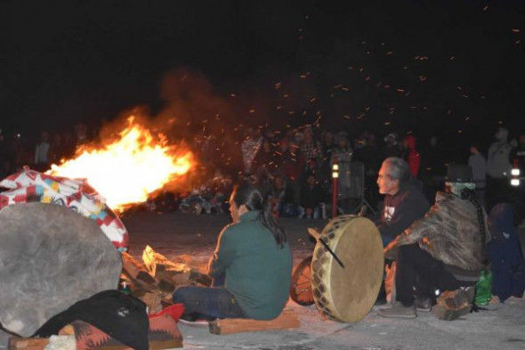 Fire keepers and drums.