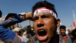 A supporter of the Houthi movement shouts slogans as he takes part in a demonstration against the closure of Yemen's ports by the Saudi-led coalition in Sanaa, Yemen November 13, 2017. | Photo: Reuters