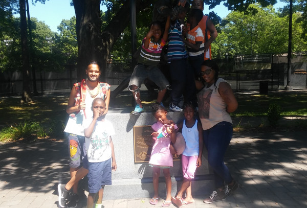 Youth and staff from History Is Power Project (HIPP) in Newark, NJ. Youth and staff from History Is Power Project (HIPP) in Newark, NJ.