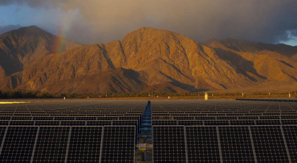 Borrego Springs' microgrid is connect to a solar farm, as well as rooftop solar, making it the largest microgrid in the U.S. that can operate solely on renewable energy. Credit: San Diego Gas & Electric