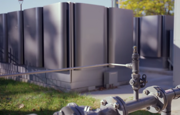 Hartford's microgrid is in the center of the city and runs on fuel cells. Credit: Constellation Energy