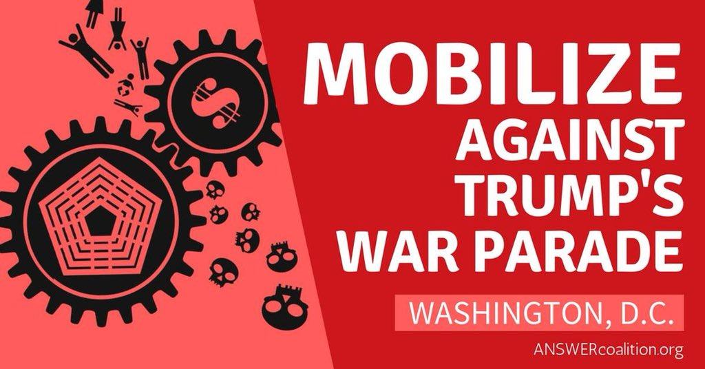Mobilize Against Trump's War Parade