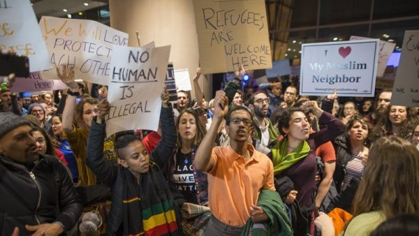 immigration protest at logan international airport in boston janualy 2017 getty images. e1530458667296