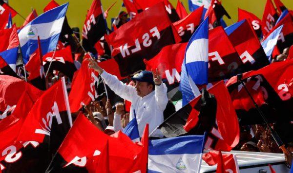 nicaraguan president daniel ortega arrives at celebration of the revolution. ap e1532196086104