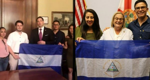 nicaraguan students meet with right wing republicans rep. ileana ros lehtinen sen. marco rubio in washington dc. source twiitter truthdig. e1531247531726
