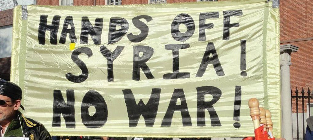 mobilization against war protest against war against syria. vancouver. e1547401201836